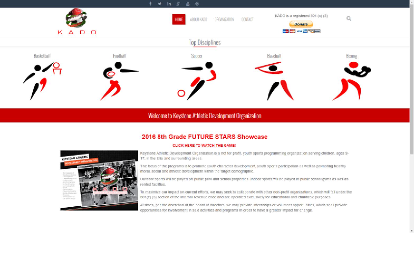 Keystone AD Desktop page