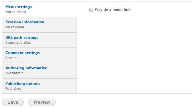 basic page options